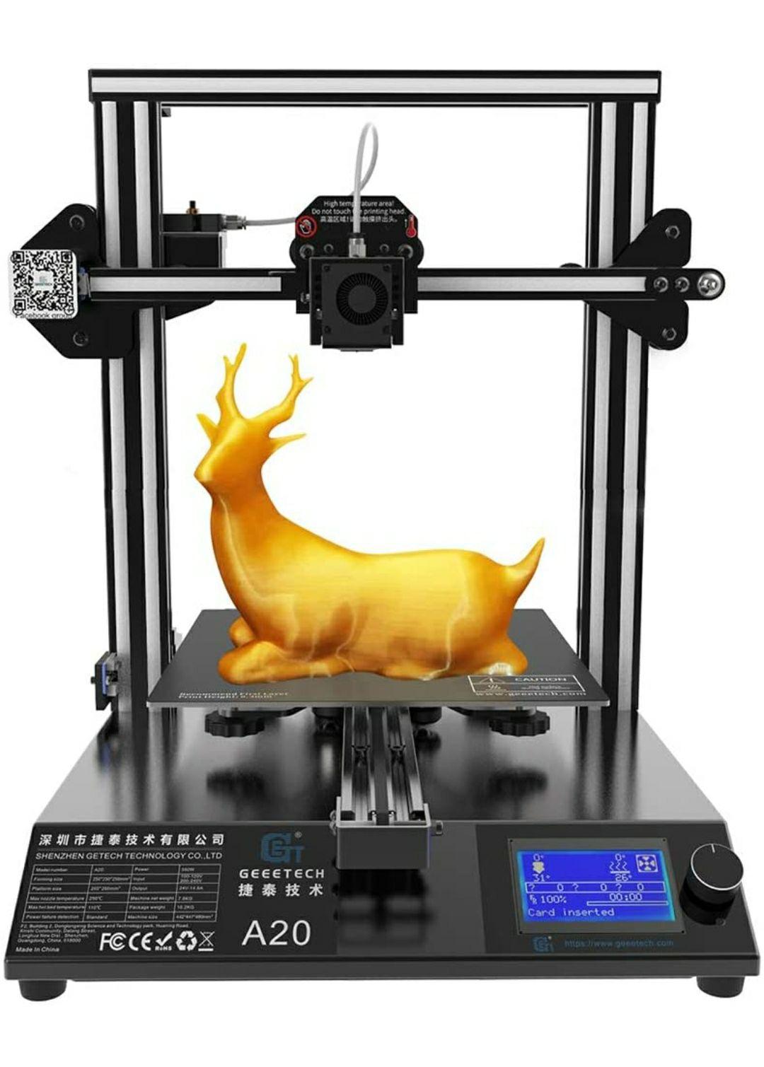 GEEETECH A20 stampante 3D con base di edificio integrata