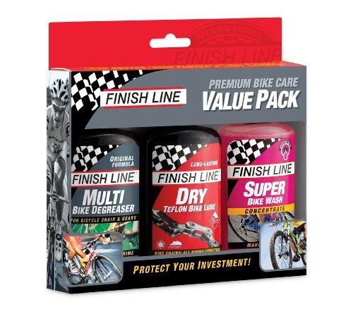 Finish Line Kit Value Pack Lubrificante X BICI, Multicolore, 120 ml