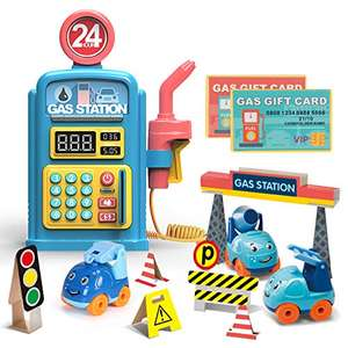 Giocattolo per Pompa di Benzina, Giocattolo per Pompa di Benzina Premium Playset Giocattoli educativi per la Stazione di Servizio,