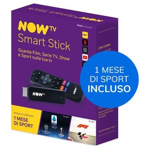 NOW TV Smart Stick + 1 mese di Sport incluso