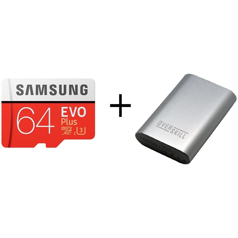 SAMSUNG MicroSD 64GB (con adattatore SD) + PowerBank 6250 mAh