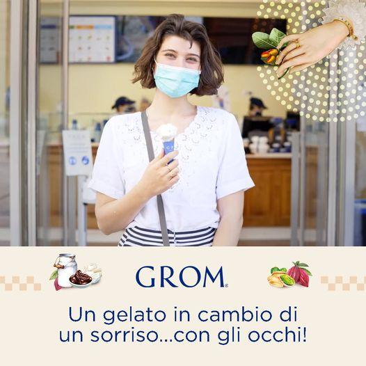 Da Grom gelato GRATIS… In cambio di un sorriso con gli occhi!