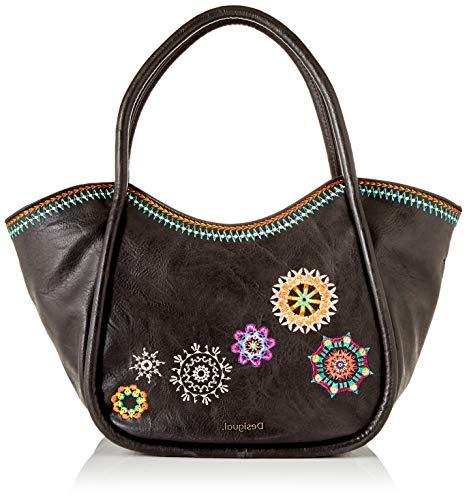 Desigual PU Shoulder Bag, Borsa a Tracolla. Donna, Marrone, U