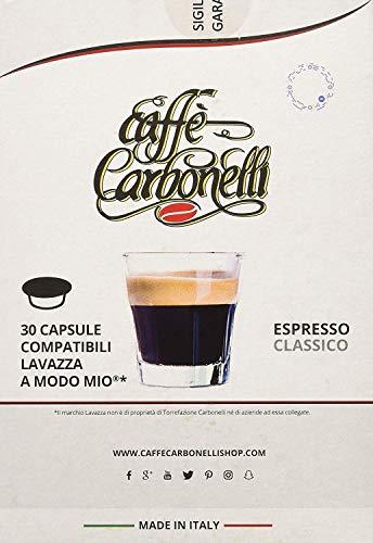 Caffè Carbonelli Miscela Classic - Confezione da 120 Capsule – Compatibile Lavazza A Modo Mio® - 4 Astucci da 30