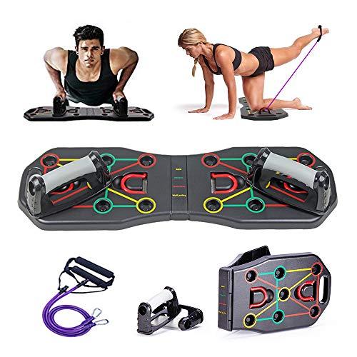 Tavola Fitness Multifunzione con Elastici - Push up Rack Board,