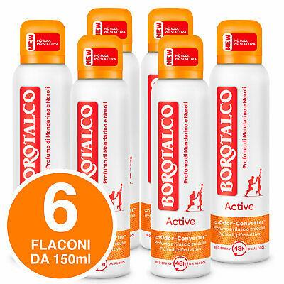 Borotalco Deodorante Spray Active Mandarino Neroli 48 Ore 6 Flaconi da 150ml