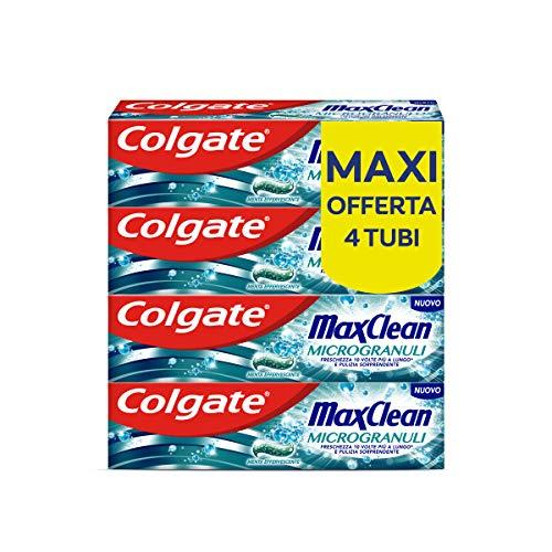 Colgate Dentifricio Max Clean Microgranuli 4 Confezioni da 75 ml