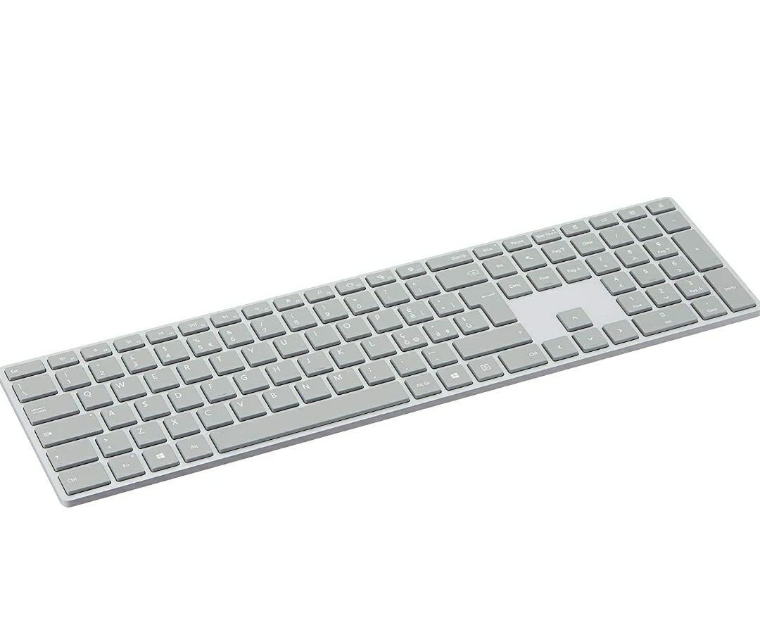 Microsoft WS2-00010 Surface Tastiera di Design, Layout Italiano QWERTY, Connessione Bluetooth, Platinum