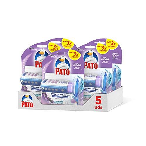 Dischi Attivi WC, Pulisce e Disinfetta, Lavanda, Confezione da 5 Pezzi, 1 Applicatore + 1 Ricarica, 180 Millilitri