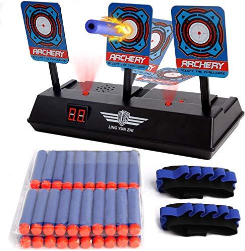 Set bersaglio giocattolo elettronico funzione di salita automatica/bersaglio elettronico * 1 + proiettili * 40+ lancette del polso * 2