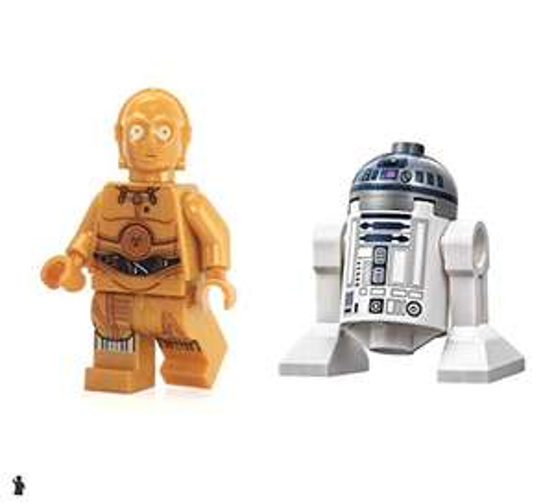 LEGO Star Wars Minifigure Droids - C-3PO and R2-D2