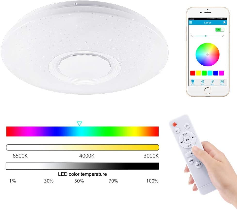 Plafoniera LED RGB App + Altoparlante 12.9€