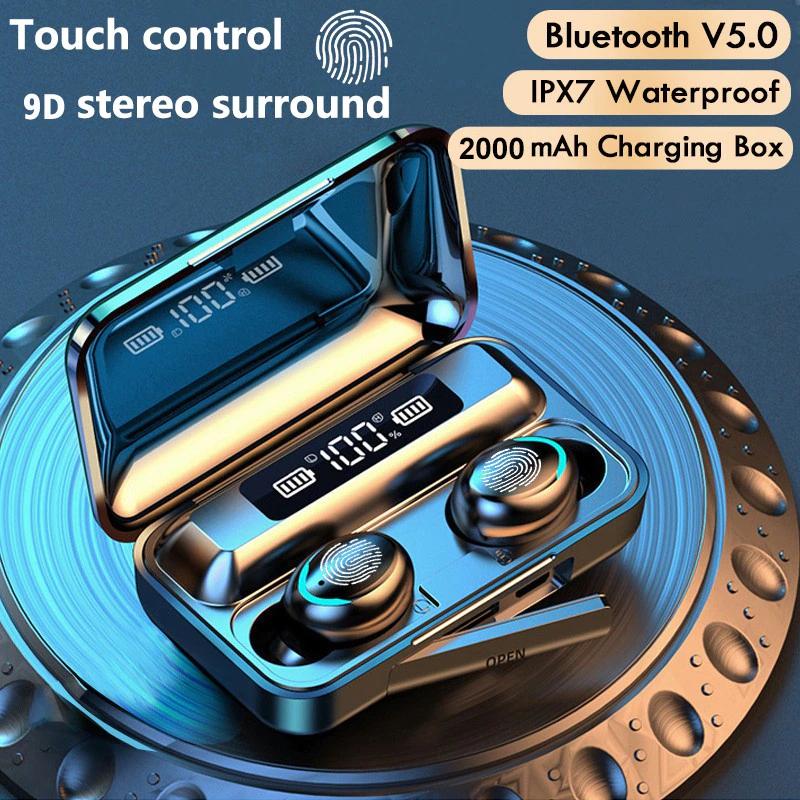 Auricolari Bluetooth 5.0 TWS 2200mAh scatola di ricarica cuffie Wireless PREZZO DA APP
