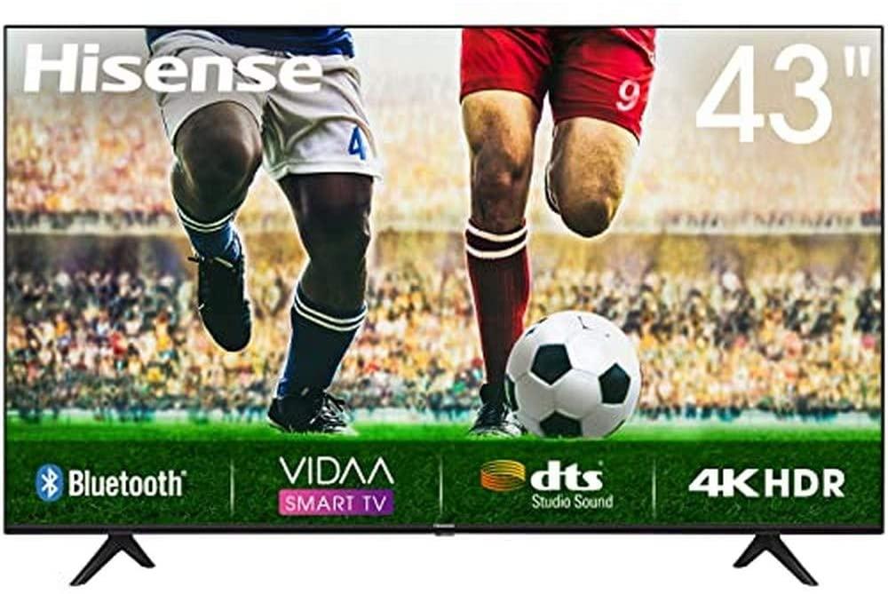 """Smart Tv Hisense 43"""" 4K HDR 287€"""