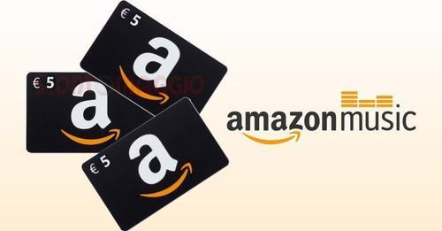 Buono Amazon 5€ per accesso APP Amazon Music