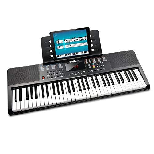 Rockjam 61 Tasto della Tastiera di Pianoforte con Supporto Foglio di Musica per Pianoforte