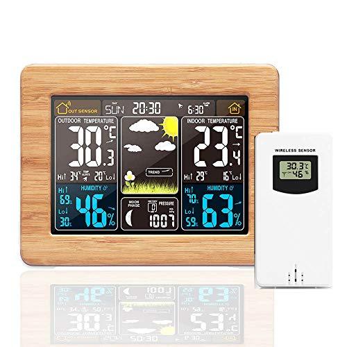 Previsione Stazione Metereologica, Wireless USB Orologi Digitale di Monitoraggio Meteorologico Meteo Interna Termometro Esterno