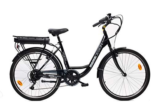 Momo Design Venezia, Bicicletta elettrica a pedalata assistita Unisex Adulto, Nero, Unica