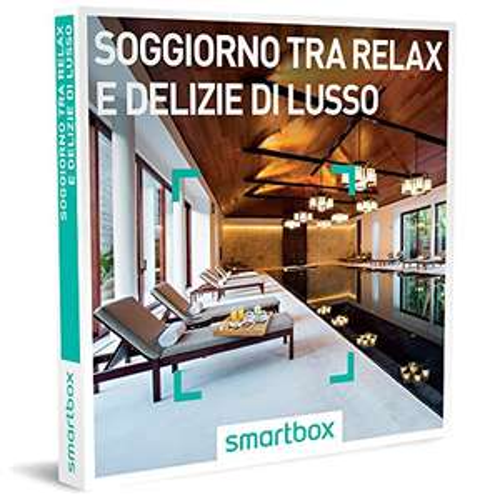 Smartbox - Soggiorno Tra Relax e Delizie Di Lusso - 46 Soggiorni Di Gusto e Benessere In Hotel D'Eccellenza, Cofanetto Regalo Gastronomici