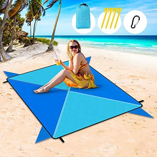 Coperta da Spiaggia, Extra Large 205 x 205cm Anti Sabbia