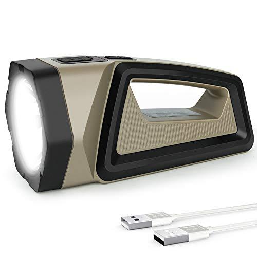 Coquimbo Torcia LED Ricaricabile, USB Impermeabile Torcia Lanterna, 2500LM 7200mAh Luce LED Portatile con 8 modalità