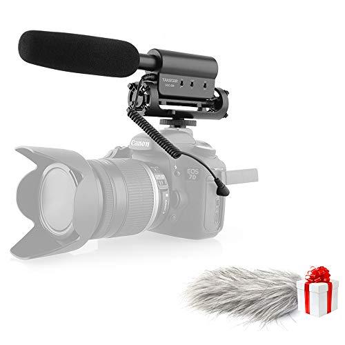 Microfono per registrazione intervista per videocamera Nikon / Canon / videocamera DV
