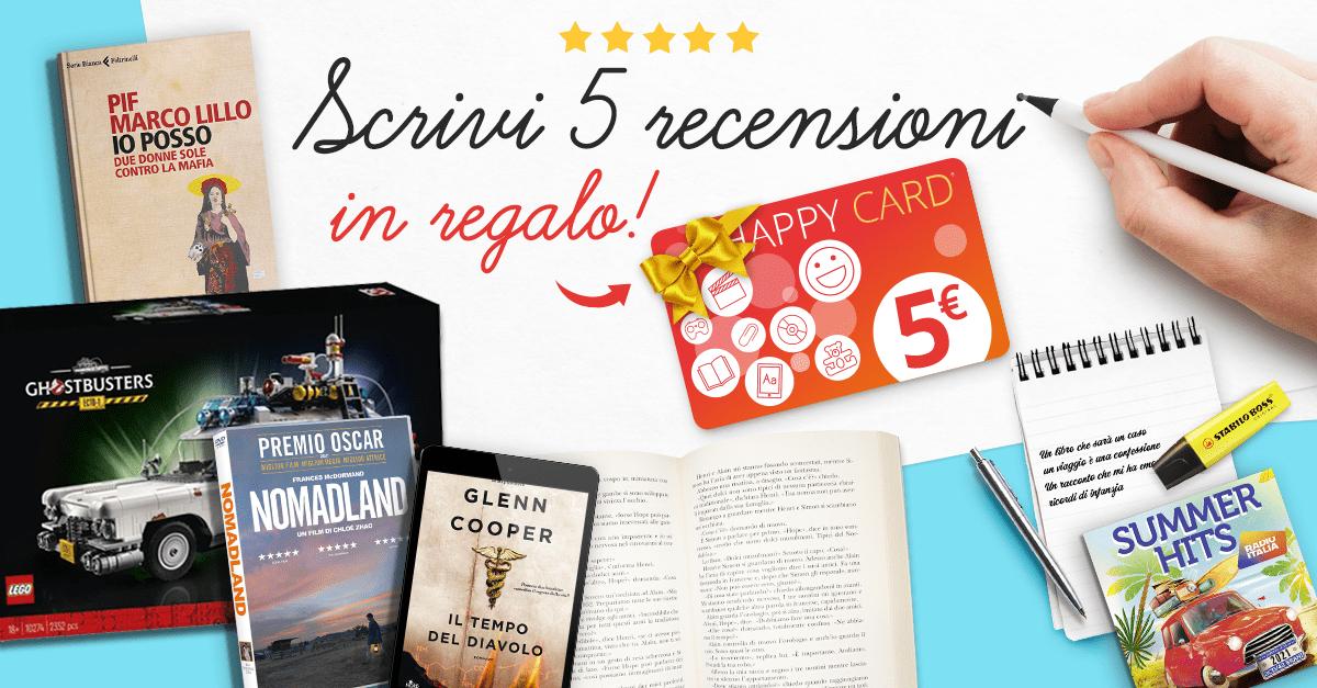 Scrivi 5 recensioni e ricevi una Happy Card IBS da 5 euro