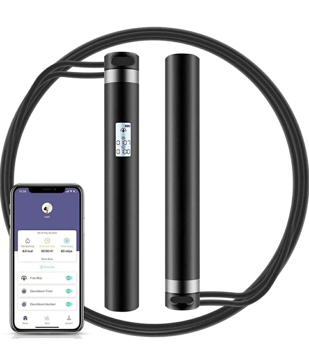morpilot Corda per Saltare con analisi dei Dati App Ricaricabile USB e Display LED