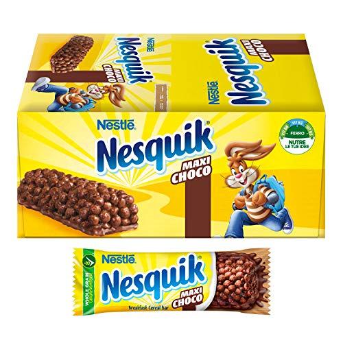 Nesquik Maxi Choco Barretta di Cereali al Cioccolato e al Latte, 24 Pezzi
