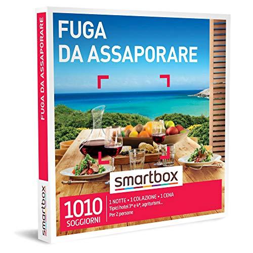 SMARTBOX - Fuga da assaporare - Cofanetto Regalo Soggiorni Gastronomici - 1 notte con colazione e cena per 2 persone