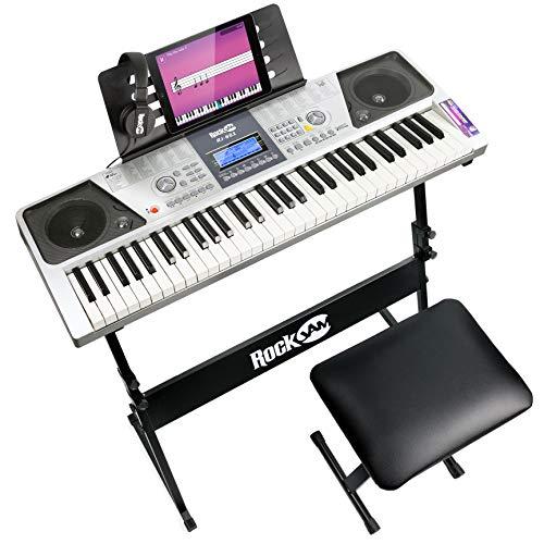 Tastiera Kit Pianoforte 61 Tasti + Sgabello