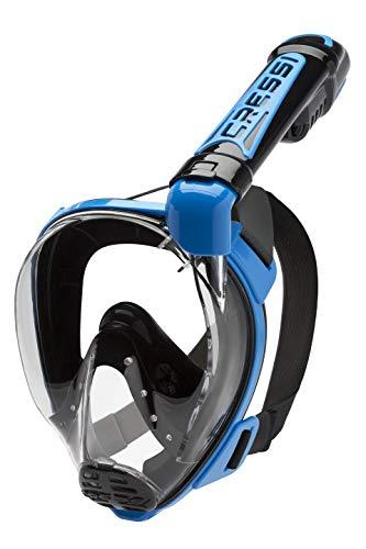 Cressi Duke Full Face Mask - Maschera Integrale Grande Visione Snorkeling con Tubo Dry Unisex Adulto