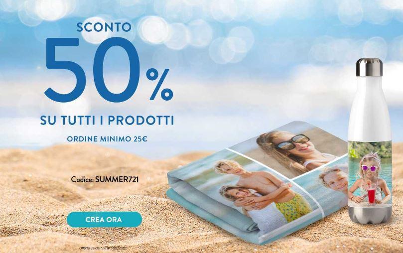 SNAPFISH - SCONTO DEL 50% SU TUTTO