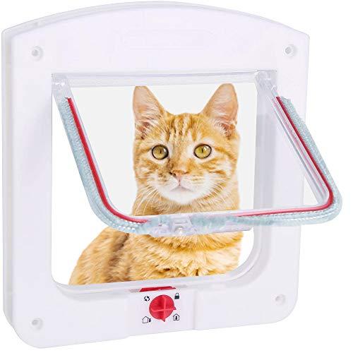 Porta Magnetica per Animali con Serratura Rotante a 4 Vie per Gatti e Cani, Robusto, Entrata e Uscita Controllabile
