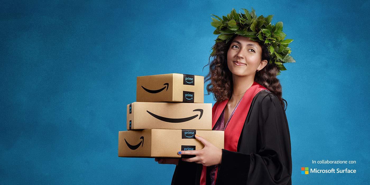 Approfitta di Prime Student per 90 giorni-3 MESI di Amazon Prime gratis e poi prezzo scontato del 50% fino alla laurea