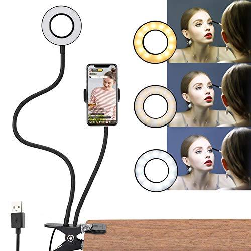 Luce ad Anello Ring Light LEDcon supporto per smartphone