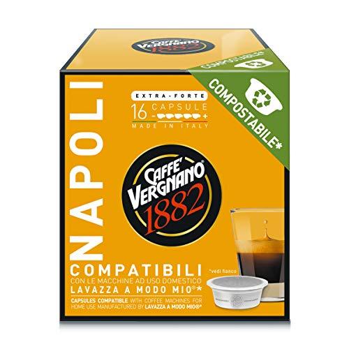 128 capsule-Caffè Vergnano 1882 Capsule Caffè Compatibili Lavazza a Modo Mio Compostabili-varie qualità in descrizione