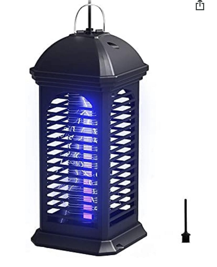 Zanzariera Elettrica, 6W LED Lampada Antizanzare Elettrico