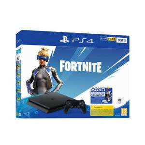 CONSOLE SONY PS4 500GB SLIM CHASSIS F + FORTNITE VOUCHER