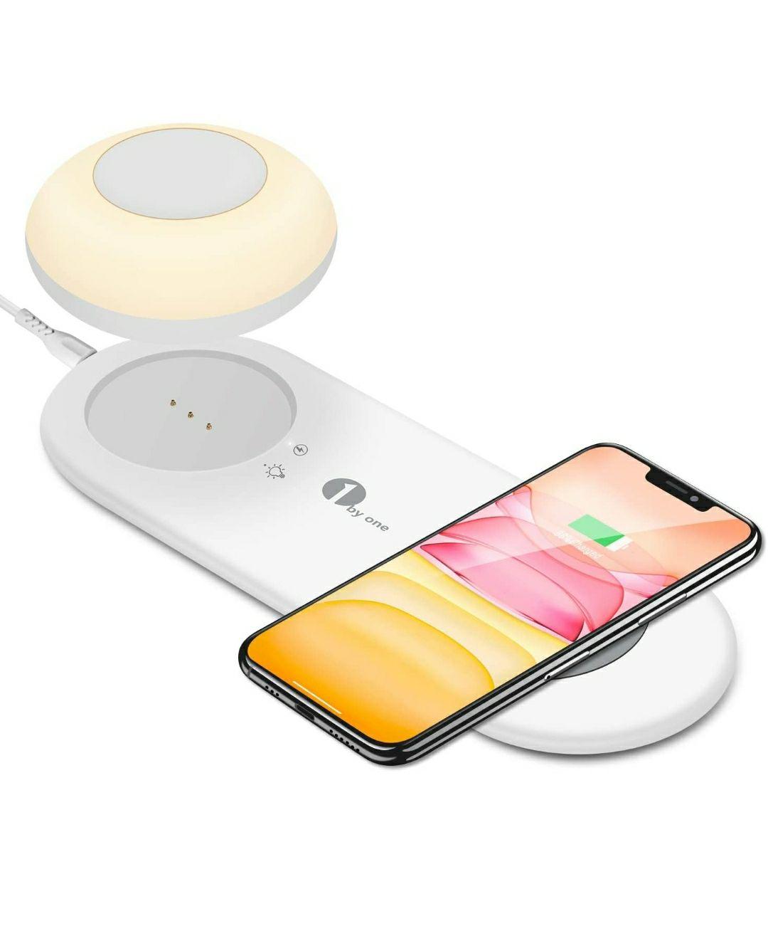 Lampada da Comodino Smart Touch con Caricatore Wireless Veloce