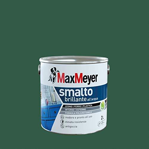 Maxmeyer - Smalto Brillante all'Acqua, Verde Scuro, 2 L