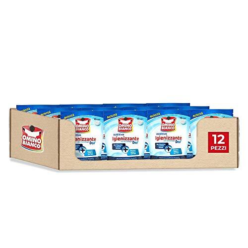 10 Caps x 12 Confezioni Omino Bianco Additivo Lavatrice Igienizzante