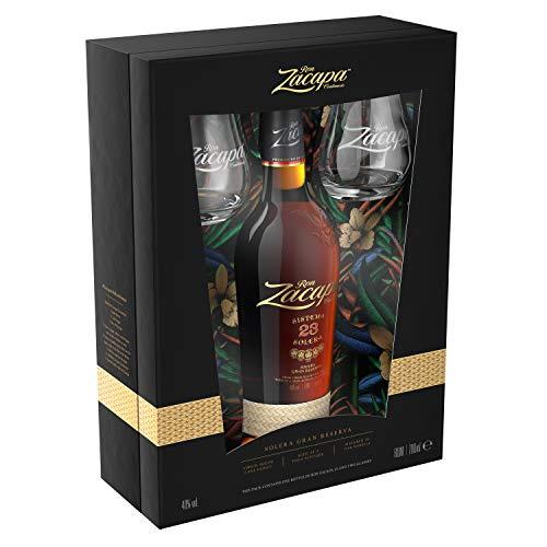 Zacapa Centenario 23 Rum Solera, 700 ml Confezione regalo con due bicchieri