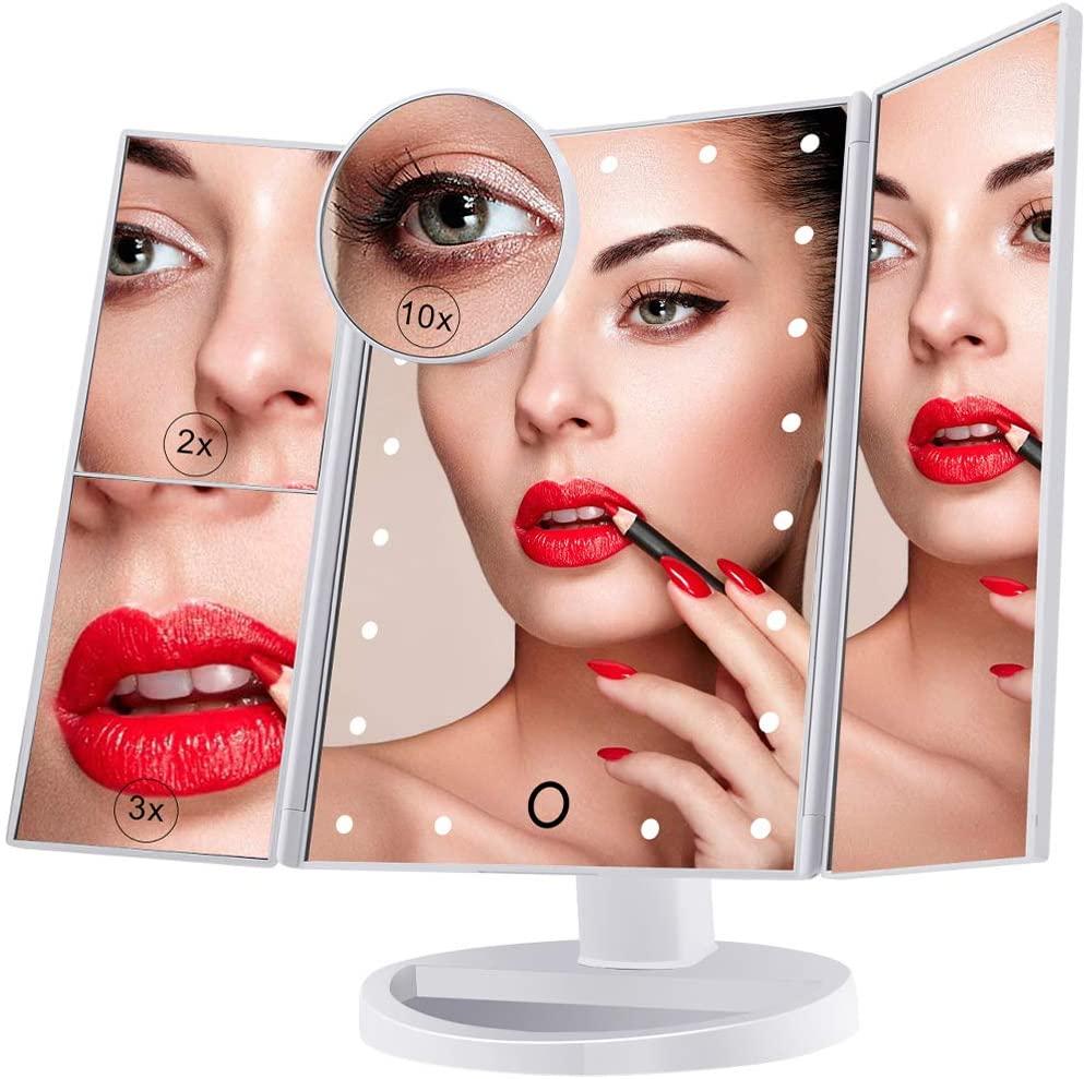 Specchio per trucco Luce LED - USB 10€
