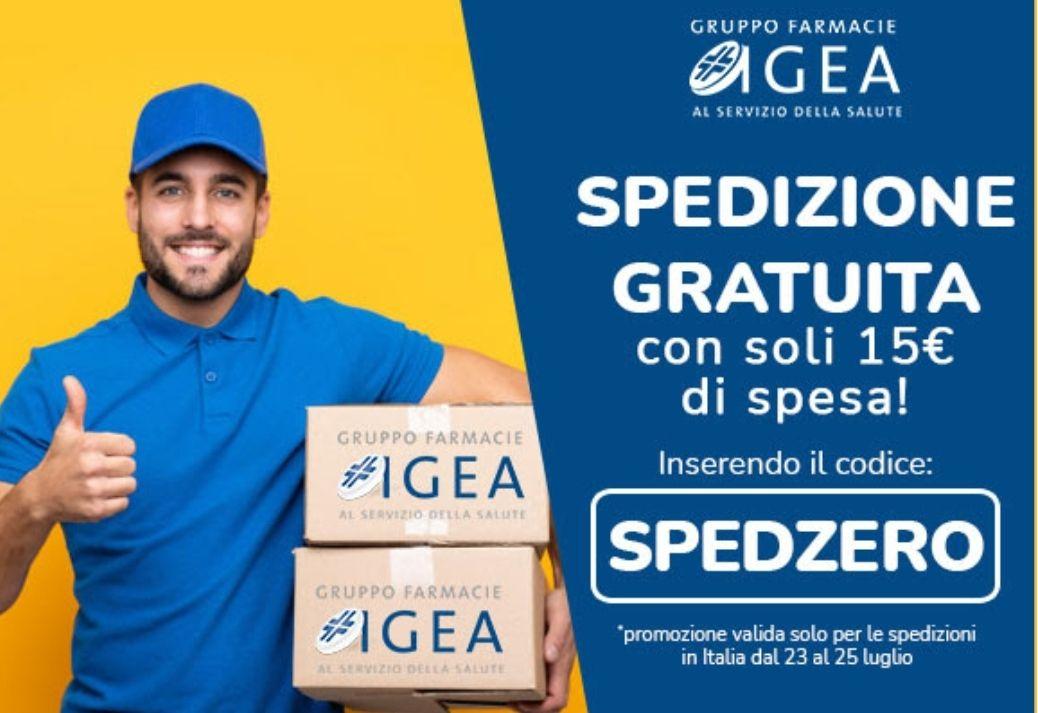 Spedizione gratuita Farmacia IGEA