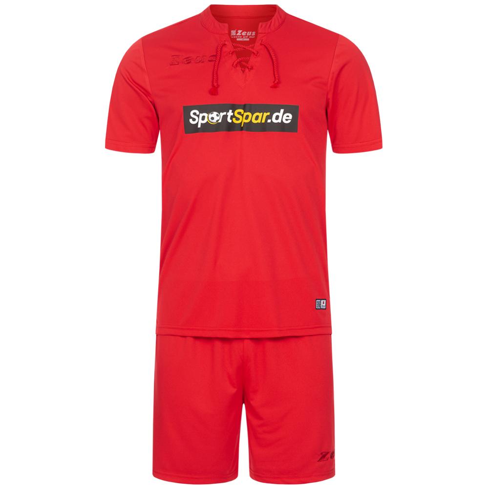 Zeus x Sportspar.de Legend Kit da calcio Maglietta con pantaloncini rosso