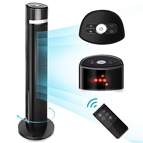 Ventilatore a Torre digitale con telecomando, 3 velocità