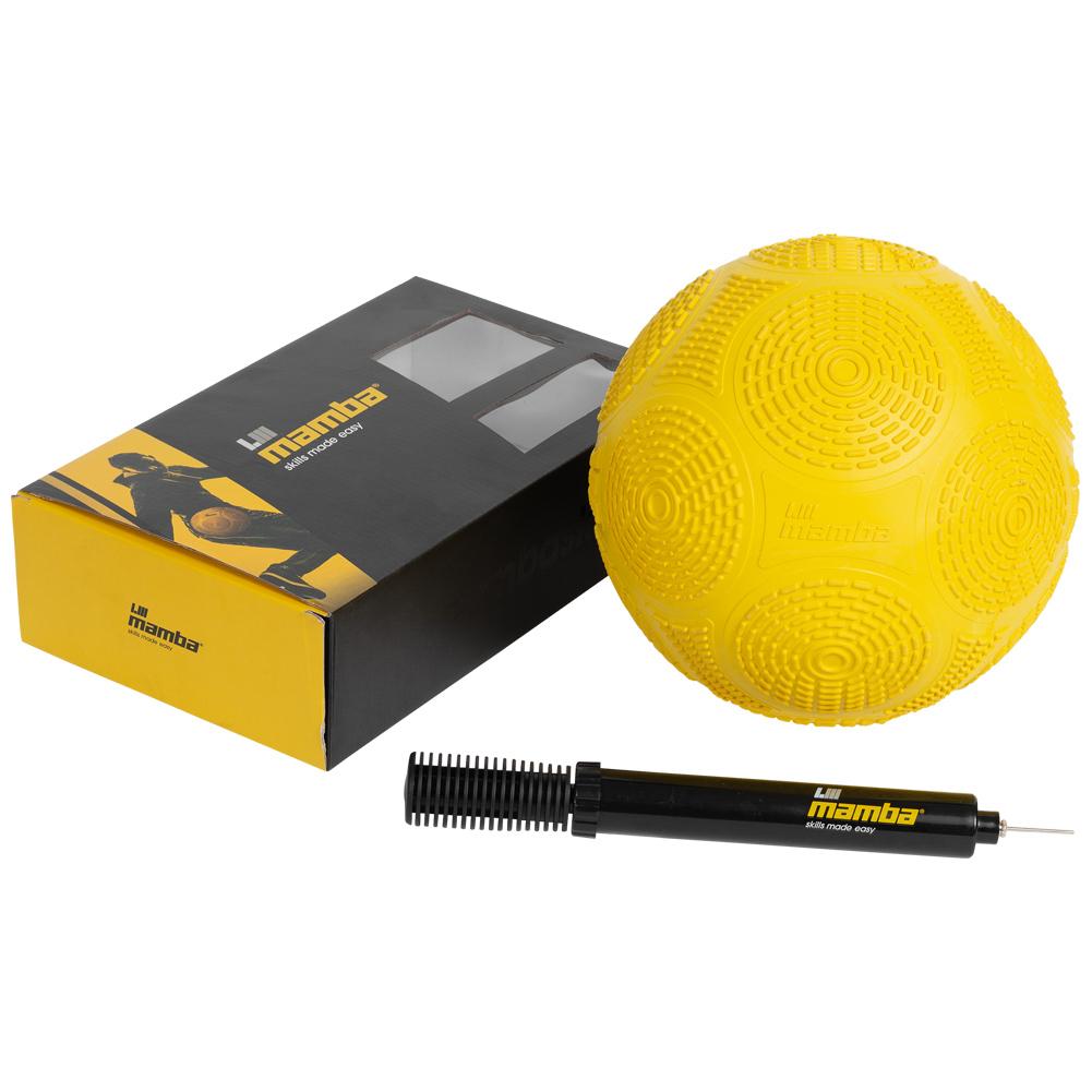 Mamba Pallone da calcio freestyle con pompa giallo