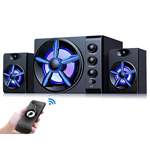 Altoparlante per PC, Altoparlante Stereo per Computer da 3 Pollici 4 canali da 3 Pollici con Jack Audio da 3,5 mm per Notebook Desktop.