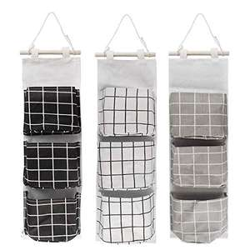 3 Pezzi sacche portaoggetti a Parete